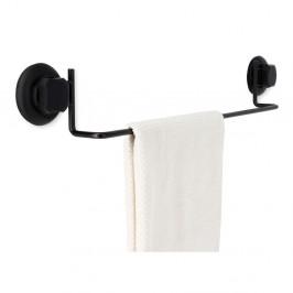 Čierny samodržiaca nástenný držiak na uteráky Compactor Bestlock Black Tube Holder For Towels, 60,6 x 9 cm