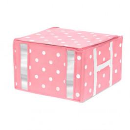Ružový úložný box na oblečenie Compactor Girly Range, 125 l