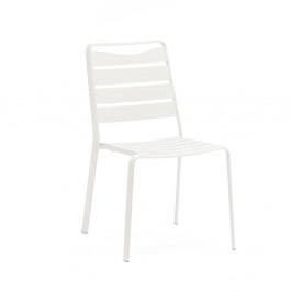 Súprava 4 bielych záhradných stoličiek z hliníka Ezeis Spring
