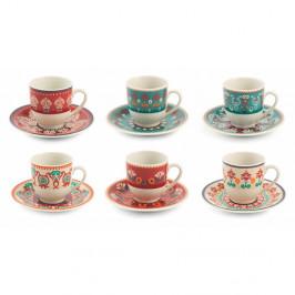 Sada 6 šálok na kávu s podšálkami Villa d'Este Shiraz