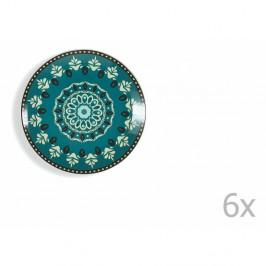 Súprava 6 modro-zelených tanierov Villa d'Este Cala Jondal