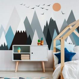 Nástenná samolepka Ambiance Giant Kid Sticker Scandinavian Mountains Parka