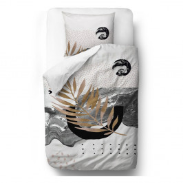 Obliečky z bavlneného saténu Butter Kings Marbling Flow, 200 x 200 cm