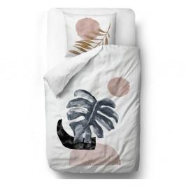 Obliečky z bavlneného saténu Butter Kings Glossy Monstera, 135 x 200 cm