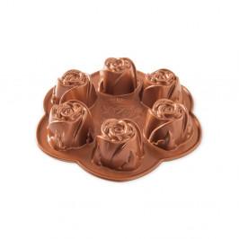 Forma na 6 minibáboviek v zlatej farbe Nordic Ware Rose, 1,4 l