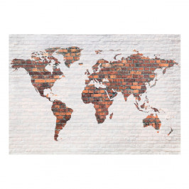 Veľkoformátová tapeta Bimago Brick World Map, 400 x 280 cm