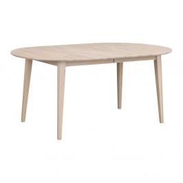Svetlý oválny dubový rozkladací jedálenský stôl Rowico Mimi, dĺžka až 210 cm
