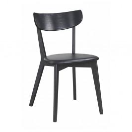 Čierna dubová jedálenská stolička Rowico Ami