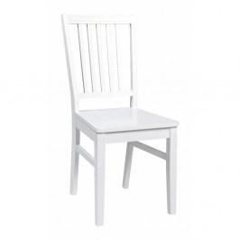 Biela jedálenská stolička z dreva kaučukovníka Rowico Wittaskar