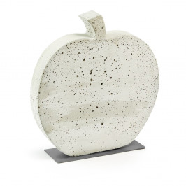 Biela cementová dekorácia La Forma Sens Apple, 37 x 40 cm