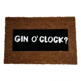 Rohožka z prírodného kokosového vlákna Artsy Doormats Gin O'Clock Glitter, 40 x 60 cm