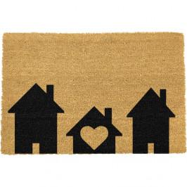 Rohožka z prírodného kokosového vlákna Artsy Doormats Home is Where, 40 x 60 cm