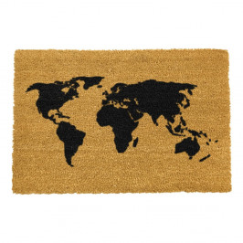 Rohožka z prírodného kokosového vlákna Artsy Doormats World Map, 40 x 60 cm