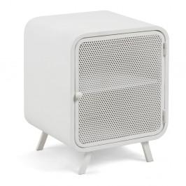 Biely kovový nočný stolík La Forma Wyatt, 42×38cm