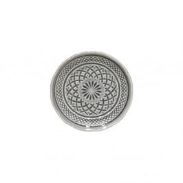 Sivý kameninový dezertný tanier Costa Nova Cristal, ⌀ 15 cm