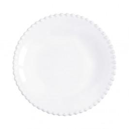 Biely kameninový tanier na polievku Costa Nova Pearl, ⌀24cm