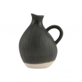 Čierna kameninová váza A Simple Mess Tyst, výška 18 cm