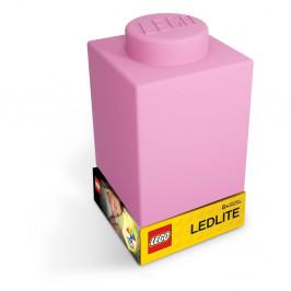 Ružové silikónové nočné svetielko LEGO® Classic Brick