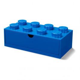 Modrý stolový box so zásuvkou LEGO®, 31 x 16 cm