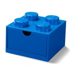 Modrý stolový box so zásuvkou LEGO®, 15 x 16 cm