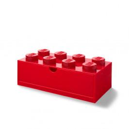 Červený stolový box so zásuvkou LEGO®, 31 x 16 cm