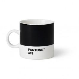 Čierny hrnček Pantone Espresso, 120 ml