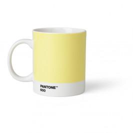 Svetložltý hrnček Pantone, 375 ml