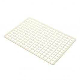 Krémová plastová obdĺžniková podložka do drezu Addis, 36,5 x 24,5 cm