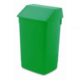 Zelený odpadkový kôš s vyklápacím vrchnákom Addis, 41 x 33,5 x 68 cm