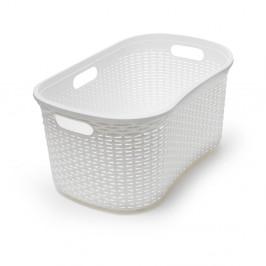 Biely kôš na bielizeň Addis Rattan Laundry Basket Calico
