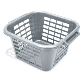 Sivý kôš na bielizeň Addis Square Laundry Basket, 24 l