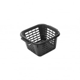 Čierny kôš na bielizeň Addis Square Laundry Basket, 24 l