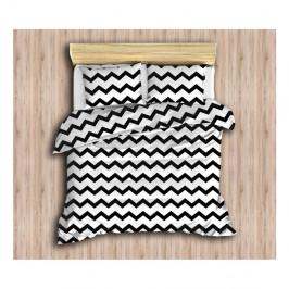 Obliečky s plachtou a 2 obliečkami na vankúš Geo, 200×220 cm