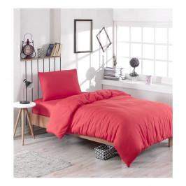 Červené obliečky s prímesou bavlny na jednolôžko Paint, 140 × 200 cm