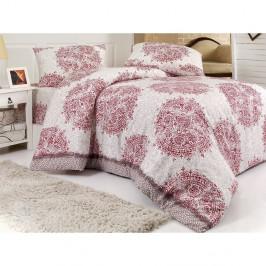 Obliečky s prímesou bavlny na jednolôžko Roma Fuchsia, 140 × 200 cm