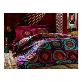 Obliečky z ranforce bavlny s plachtou na dvojlôžko Gipsy Classic, 200 × 220 cm