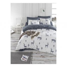 Obliečky s plachtou na dvojlôžko z ranforce bavlny Mijolnir GoodTime White, 160 × 220 cm