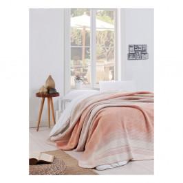 Svetloružová deka Puro Lessno, 180 x 220 cm