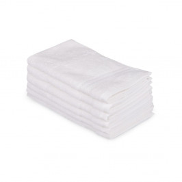 Sada 6 bielych bavlnených uterákov Madame Coco Lento Puro, 30×50 cm
