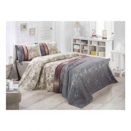 Ľahká prešívaná bavlnená prikrývka cez posteľ Carro Gris, 140×200 cm
