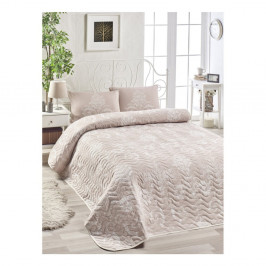 Set plédu cez posteľ a obliečky na vankúš s prímesou bavlny Kralice Mink, 160 x 220 cm