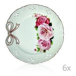Sada 6 porcelánových tanierov Loulou