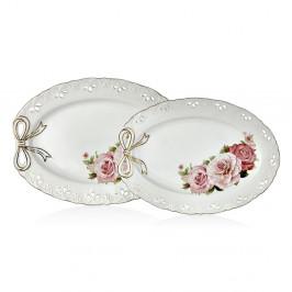 Sada 2 porcelánových tanierov Dina