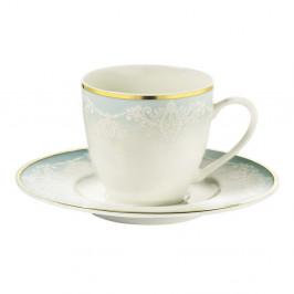 Sada 6 porcelánových šálok na kávu s tanierikom Kutahya Africa, 50 ml