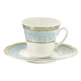 Sada 6 porcelánových šálok s tanierikom Kutahya Hedwig, 50 ml