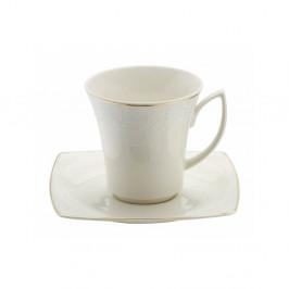 Sada 6 porcelánových šálok s tanierikmi Kutahya Misma