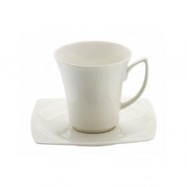Sada 6 porcelánových šálok s tanierikmi Kutahya Rafio