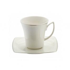 Sada 6 porcelánových šálok s tanierikmi Kutahya Millio