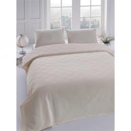 Prikrývka cez posteľ Orgu Cream, 160x235 cm
