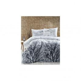 Ľahká prikrývka s obliečkami na vankúše Peace Grey, 200×220 cm